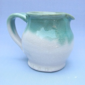 Tiny cone six porcelain pitcher, 25
