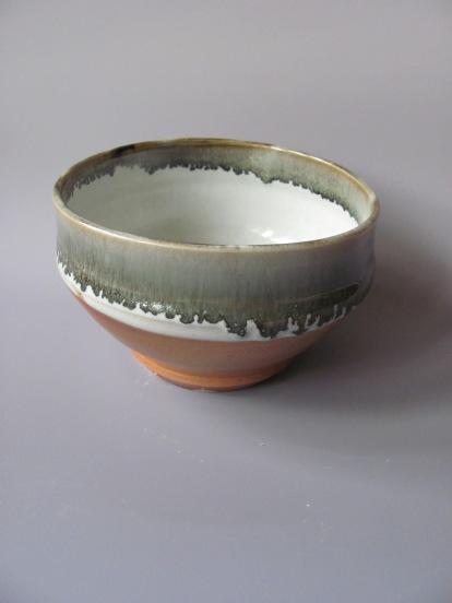 Wood fire, layered glazes, helmer clay