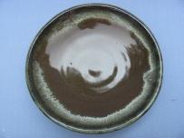 Small cone six stoneware plate 22