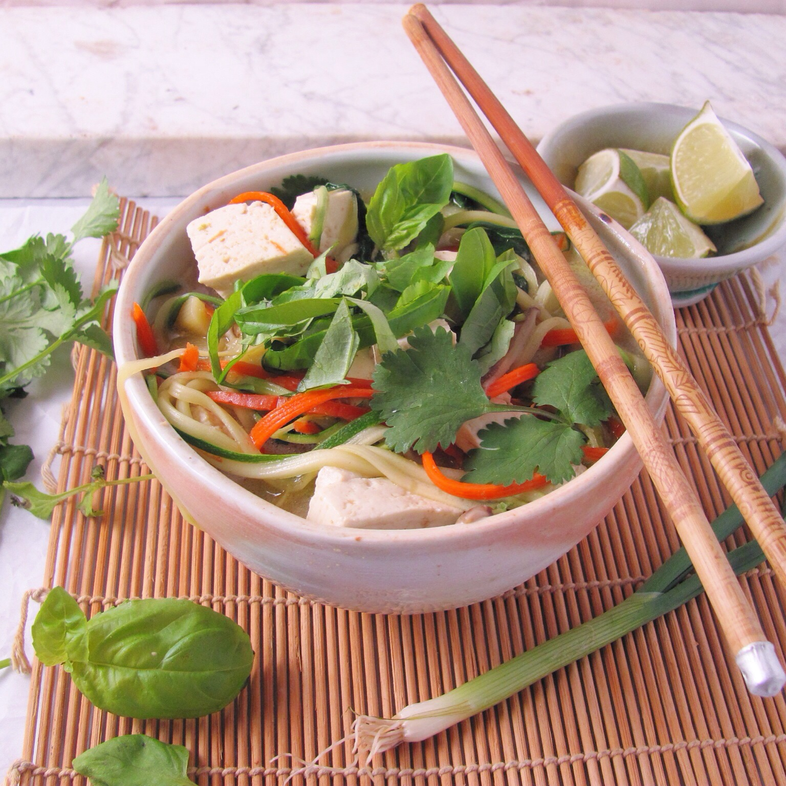 "Thai Coconut Chicken ""Noodle"" Soup | deb's pots"