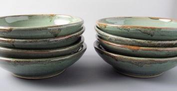 Cone six stoneware, pasta bowls