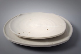 Cone 6 stoneware squared plates